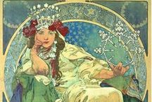 Inspiration: Nouveau / A visual reference for Art Nouveau images that I find particularly inspiring and interesting.