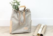 Bags / Our bags are made from natural linen and organic leather.
