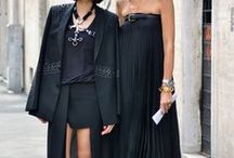 b l a c k \ o n \ b l a c k / \ black on black is a must for fashion packs on the street \
