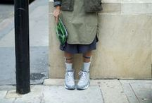 b o r r o w \ f r o m \ g i r l s / \ we love seeing men on the streets carrying key womenswear pieces mixing it up \