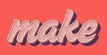 Typo / Poster, Sprüche und schöne Buchstaben