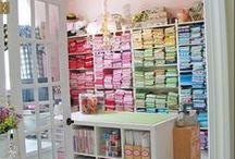 Nähzimmer Ideen ♥ / Gesammelte Inspirationen für ein Nähzimmer ✂ Craft Room Inspiring.