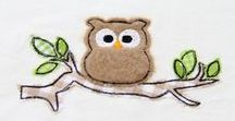 KerstinBremer.de Eulen Stickdateien / Doodle Applikation Stickmuster, Applikationen und Füllstich Stickdatei mit Eule Ursula ♥  Owl doodle appliqué embroidery designs ♥ Eule Ursula wurde liebevoll designed von Kerstin Bremer.