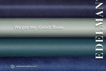 got the BLUES / Edelman Leather - everything in blue tones.  For upholstery, wall panels and floors. / by Edelman Leather