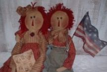 RAGGEDY DOLLS, PATTERNS ETC. / by Hammack's Wood-N-Cloth Crafts
