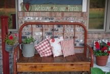 BENCHES.....from beds, dressers etc. / by Hammack's Wood-N-Cloth Crafts