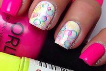 Colored nails / Nails, polish maniqure