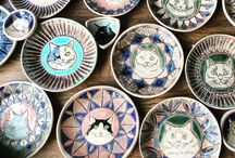 Plates. / Cramics plate. Artist name Ari kurihara. from japan.