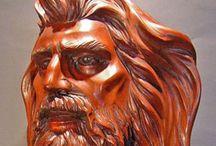Wood Sculpture ; Classic Style Art Gallery / Faszobrászat, klasszikus stílusban