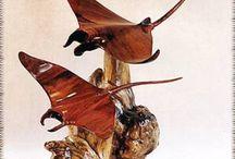 Wood Sculpture ; Custom Creative Style. Art Gallery. / Faszobrászat, egyéni kreatív stílusban