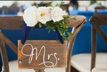 Signage + Banners  / Beautiful wedding decor and inspiration