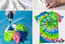 Clothes - Coloring - Shibori - Batique / by Tuula Taavo