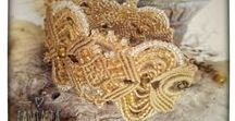 my creations / # creations #beaded #macrame #bracelet # crochet