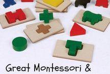 Montessori / Montessori-inspired activities and toys for children.