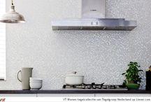 Keuken inspiratie / Inspiratie opdoen voor de keuken kan hier. We geven je voorbeelden van alle mogelijkheden in stijlen en sferen. Doe nog meer inspiratie op onze site: www.tegels.com/inspiratie
