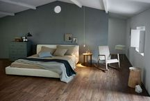 Slaapkamer inspiratie / Bekijk hier de mogelijkheden, hoe jij in jouw slaapkamer rust kan creëren. Met houtlook of betonlook, of toch modern. Bekijk nog meer mogelijkheden op www.tegels.com/inspiratie