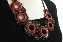 Beaded necklaces, collars #1 / by Selina