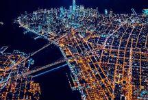 Gotham at Night / Manhattan truly never sleeps.  Take it all in 24/7.