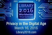 Library 2.016 Virtual Conference: Privacy In the Digital Age / The SJSU School of Information is proud to be a founding sponsor of the Library 2.016 Worldwide Virtual Conference.   Join the global discussion on Privacy in the Digital Age, scheduled for March 16, 2016, from 12 - 3 p.m. Pacific Daylight Time.   Everyone is invited to participate in this free online event featuring keynote speakers and crowd-sourced presentations.   Registration is free.   Register and locate archive of presentations at: http://www.library20.com/privacy