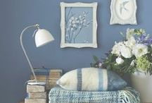 Blue home decorations