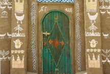 """The Intriguing Doors ~ / """"In the universe, there are things that are known, and things that are unknown, and in between, there are doors."""" There is no underestimating the importance of a fine door. It's the 1st to welcom you/r guests, &, of course, keep out undesirables. In many cultures, the front door is thought to be the """"mouth"""" of the home, the entry point where energy, abundance & opportunities may find us. No wonder, we come across Doors with distinct personality of their own & find them so intriguing!"""