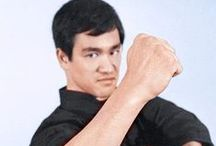 Bruce Lee, The Dragon / Bruce Lee (born Lee Jun-fan, Chinese: 27 November 1940 – 20 July 1973) was a Hong Kong American martial artist, Hong Kong action film actor, martial arts instructor, filmmaker, and the founder of Jeet Kune Do. Lee was the son of Cantonese opera star Lee Hoi-Chuen. He is widely considered by commentators, critics, media and other martial artists to be one of the most influential martial artists of all time, and a pop culture icon of the 20th century.  / by Louis Lomaxx