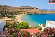 Rhodos - Perle der Ägäis / Kultur und Geschichte, wunderschöne Strände mit kristallklarem Wasser und ein angenehmes Klima. Die Hauptinsel Rhodos ist definitiv eine Reise wert!