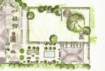 Garden designs - drawings - planting plans