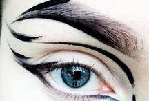 глаза / Как нарисовать брови и стрелки если ты рукожоп