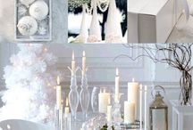 Wondorous Wintery Wedding Inspiration / sparkley, white, wintery cakes and inspiration