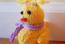 Knit + Craft Spring / Easter and Spring Springtime Free Craft Knitting Food Craft Project Ideas and Video Tutorials for beginning knitters
