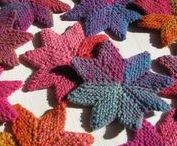 Knit Shapes Patterns / Knitted Shapes like stars, circles, triangles, hearts and more.