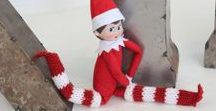 Elf on the Shelf DIY Ideas / Elf on the Shelf ideas with crafts, knit, patterns, fashion, sneaky ideas, Christmas magic by Studio Knit.