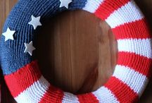 Craft Patriotic / Patriotic Party DIYs with Crafts, Food, Knitting, Decor, Decoration ideas for Memorial Day, 4th of July, Flag Day, Veterans Day Celebrations