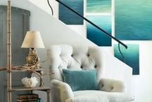 Coastal Chic / Breezy blues and sandy inspirations can whisk your room away to the sea.