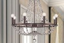 """Crystorama Modern Lighting / Originally founded as a primary source for European Crystal chandeliers, Crystorama is still the """"go-to"""" for timeless and elegant chandeliers, but now also features fashion-forward, trend-setting contemporary styles that will match any decor! / by Lighting New York"""