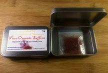 Moroccan Saffron / Moroccan Saffron is derived from the dried stigmas of the saffron crocus Linnaeus, commonly known as Rose of Saffron which only blooms for three weeks every fall and has a deep auburn colour and sweet flavour. The stigmas can only be picked by hand and it takes 250,000 stigmas to make just half a kilo of saffron!