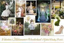 Wedding Inspiration ~ Midsummers Wonderland of Gilded Chalky Pastels