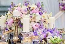 Wedding Inspiration ~ Enchante / Lilac, Lavander, Blue & gold wedding inspiration. lilac & gold wedding dress, wedding cakes, wedding decor, wedding flowers