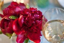 Wedding Inspiration ~ Damsel in dis-dress: Red & Gold Romantic Drama Wedding Inspiration x / Deep red & gold wedding inspiration, Damsel red velvet wedding dress, wedding decor, wedding cake, wedding flowers