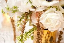 Wedding Inspiration ~ Elizabeth shall go to the ball: A Golden Wedding with Cream & Gold / Gold wedding dresses, gold & ivory wedding inspiration - cakes, decor, flowers, shoes.