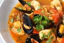 Seafood Recipes / Pins about a variety of dishes that use seafood.