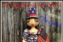 Sew Raggedies and Prims Folk Art / Original One of Kind, 100% Handmade Dolls, Home Decor and More !