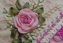 EMBROIDERY~*~ / I enjoy doing hand work.  Silk ribbon embroidery is my favorite but I also do beading, sewing, tatting, cross stitch, upholstery, mosaics, paper crafting, floral arrangements and jewelry making.  I'll keep learning!