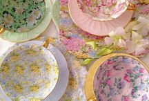 Chintz China~*~ / I love these vintage pieces of China that look like fields of flowers! I mix all the patterns in my own collection.