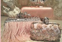 Evening Bags~*~ / I rarely need one but I love them.  They are always beautiful, uniquely shaped and covered with BLING!