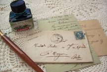 Letter Writing~*~ / In a world of electronic devices where communications are always short and impersonal it's delightful to receive a real card or letter in handwriting with a special seal where time and attention to detail are given to the receiver.