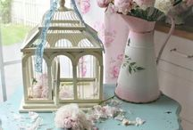 Bird Cages~*~ / The architecture of bird cages is just lovely.  They are great for inside and outside decorating and can be used for many things in many places.