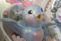 BLUEBIRDS~*~ / There is something so sweet about Bluebirds.  I love finding vintage items adorned with them.