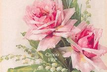 Vintage Rose Prints~*~ / Vintage roses art is just so soft and lovely.  I just couldn't pass up any more of those pins!
